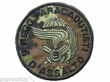 Patch 9 Col Moschin Paracadut. Folgore Esercito Italiano Mimetica Vegetata Toppa