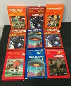 Atari Game Lot in Box Complete 9 games