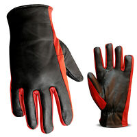 Leather Motorcycle Biker Gloves Motorbike Gloves Inner Lining Winter Running