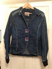 Billabong Size 4 (Medium) Ladies Blue Denim Jacket