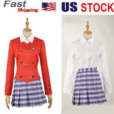Rock Musical School Uniform Dress Skirt Suit Heathers Women Girls Party Costume