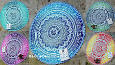 10 pcs WHOLESALE LOT Roundie Hippie Beach Throw Round Yoga Mat Towel Tapestry