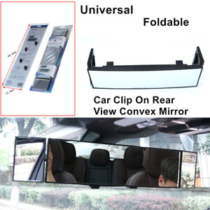 Universal Auto Car Rear View Convex Mirror Foldable Wide-angle Lens Back Clip On