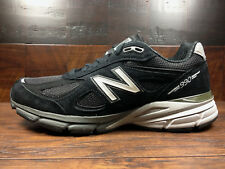 New Balance M990BK4 Black Suede Mens Running 990v4 Made in USA (Widths D 2E)