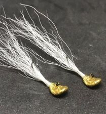YOUNGBUCKLURES 1/16oz Wobble Jig For Crappie Panfish Perch Bass In GOLD (2)