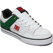 DC Pure SE Mens White Green Leather Lace Up Skate Shoes Trainers Size UK 8-15