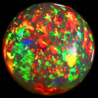 8MM ROUND TOP SUPER RAINBOW ELECTRIC NR ETHIOPIAN FIRE WELO OPAL WHOLESALE PRICE