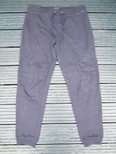ATMOSPHERE - NAVY BLUE, CUFFED JOGGERS Size LADIES - 12 - POLYCOTTON