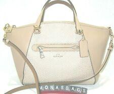 Coach Legacy Beechwood Leather & Jacquard Prairie Satchel 29848 New Handbag NWT