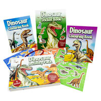 Dinosaur Activity Pack with 3 books - features over 150 reusable stickers