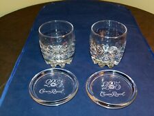 Pair Of Crown Royal Whisky Glasses And 2005 Crown Royal Glass Coasters