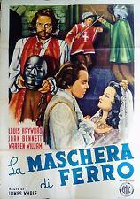 manifesto movie poster 2F La maschera di ferro James Whale Hayward bennett