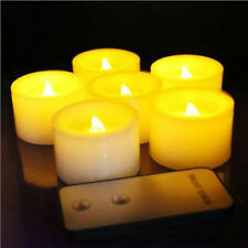 6pcs Remote controlled Flameless LED Candles Flickering tealight f/Wedding Xmas