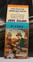 Vintage Matchbook Cover P1 Mansfield Ohio Coffee Shop Happy Hunting Dog 4th St