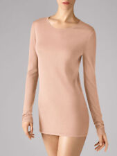 NWT $450 WOLFORD Fine Merino Wool Crew Neck Pullover Rose Tan Large