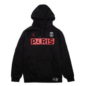 Nike AIR JORDAN X PSG Jumpman XL Hoodie Black Red BQ8350-010