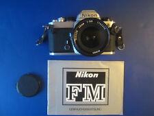 Fotoapparat Nikon FM ,Objektiv Nikkor 28 mm 1:35,Gebraucht ,voll funktionsfähig