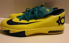"Nike KD 6 ""Seat Pleasant"" (GS) Sonic Yellow 599477-700 ☆Sz 6.5y ☆Pre-Owned☆"