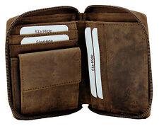 STARHIDE homme zip around vieilli hunter en cuir poche monnaie wallet 720-marron