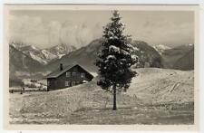 AK Oberstdorf, Allgäu, Karatsbichel-Skihütte, 1934