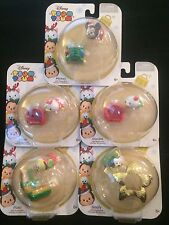 Disney Tsum Tsum with Stackable Holiday Accessory Lot Of 5 Christmas Figure