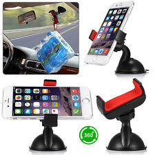 360°Rotating Car Holder Windshield Mount Bracket Stand for Cell Phone iPhone GPS