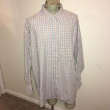 Ermenegildo Zegna Blue-Purple-Beige Plaid 100% Cotton Shirt  2XT