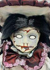 OOAK ELIZABETH  Scary Creepy Horror Doll 12″ with Stand Halloween Reborn