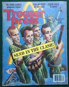 THE CLASH # Trouser Press #60  US 1981 Magazine
