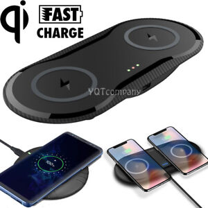 Dual Wireless Charger Phone Charging Pad For iPhone 12 11 Pro Max XR 8 8p XS Max