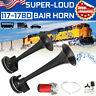 178DB Ultra Loud Dual Trumpet Air Horn Compressor 12V Car Truck Train Boat Black