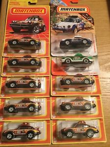 2020 MATCHBOX RETRO SERIES #7 BROWN PORSCHE 911 RALLY LOT OF 10