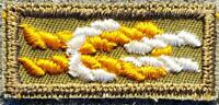 BSA Silver Antelope Award Square Knot on Olive Gauze Mint Boy Scouts of America