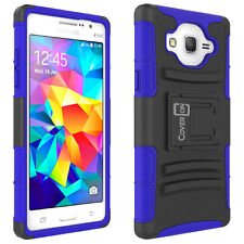 For Samsung Galaxy On5 Belt Clip Case Blue Holster Hybrid Phone Cover