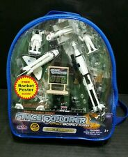 Space Shuttle Space Explorer 10-Piece Backpack Playset Space Orbiter Set