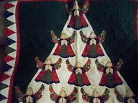 BEAUTIFUL QUILT WITH ANGELS DESIGN-CAN HANG