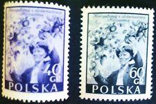 POLAND STAMPS MNH 1Fi730-32 Sc637-38 Mi870-71 - Ivan Michurin,1945,clean