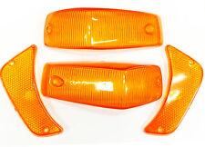 VOLVO 140 TURN SIGNAL LENS kit amber lenses set of 4 front 1967-72 LEFT RIGHT