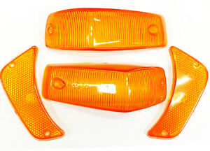 VOLVO 140 TURN SIGNAL LENS kit amber lenses set of 4 front 1967-72 LEFT RIGHT