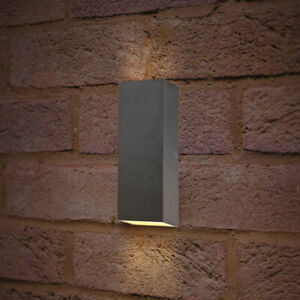 Contemporary Outdoor Led Wall Mounted Light Weatherproof Hard-Wearing Set of 2