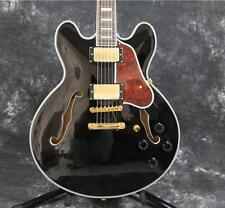 Starshine Semi Hollow Body 335 Electric Guitar Beauty Black Gold Hardware