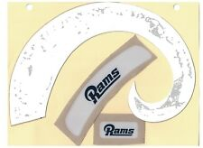 LOS ANGELES RAMS WHITE FULL SIZE FOOTBALL HELMET DECALS W/BUMPERS