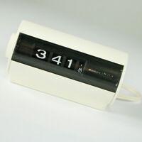 Sankyo Joy Clock Modell 431C Rollzahlen Walzen Tisch Uhr 220 V Vintage 70er