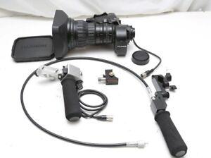 "Fujinon A22X7.8BDEZM 2/3"" B4 mount lens W/ rear studio controls 2X extender"