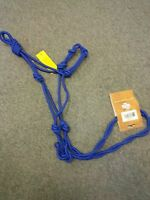 BLUE JT TOUGH-1 ROPE HALTER WITH TWIST CROWN AND NOSE WITH KNOTS  HORSE TACK