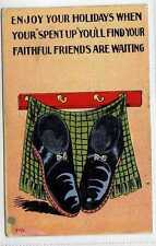 (Lw156-100) Enjoy Your Holidays, When You Have Spent Up,  1914 Used G-VG