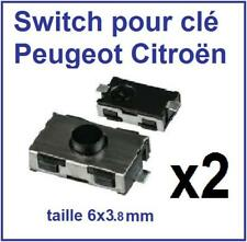 2 Switch bouton de clé Peugeot 206 307 406 Partner Citroen C3 5 Picasso Berlingo