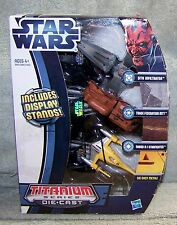STAR WARS TITANIUM SERIES SITH INFILTRATOR,TRADE FEDERATION MTT& N-1 STARFIGHTER