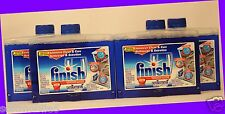 4 Bottles Finish Dishwasher Cleaner INTENSIVE CLEAN + CARE Cleans Filters, etc.