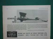 4/1966 PUB IRVING AIR CHUTE 1919 LESLIE IRVIN PARACHUTE JUMP ORIGINAL AD